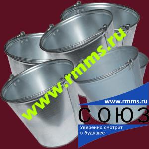 Оцинкованное ведро 9 литров, 12 литров, 15 литров ГОСТ 20558-82